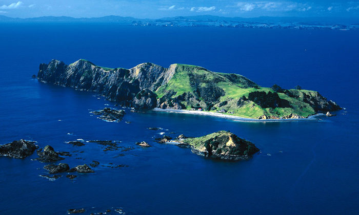 Controversial island back on market