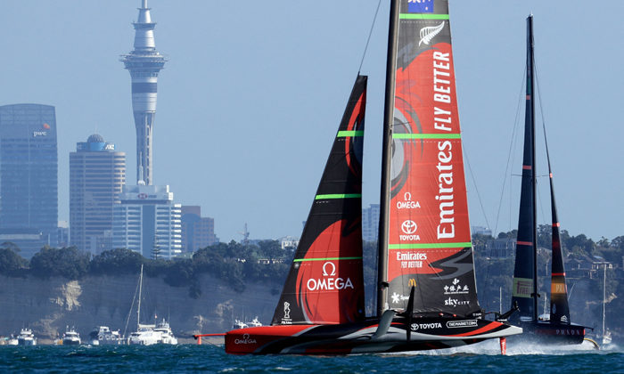 America's Cup win celebration for all