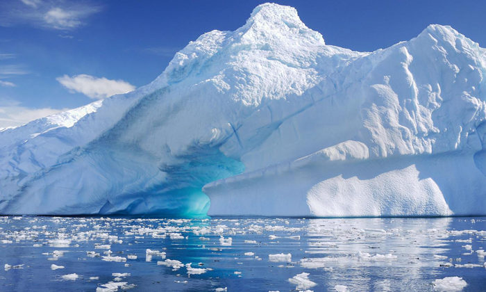 Ice carvings address climate change