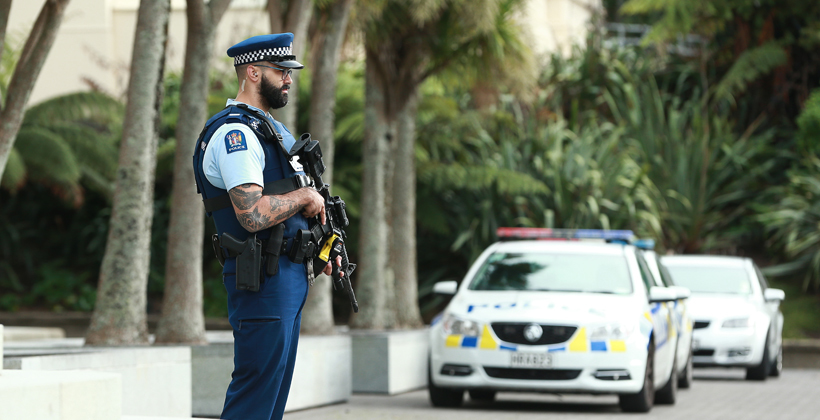 Armed police take away breathing space