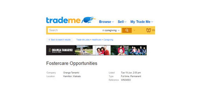 TradeMe foster care ads a mistake
