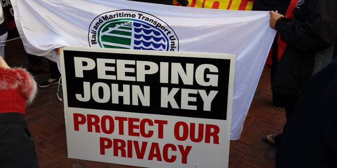Auckland rally against GCSB Bill