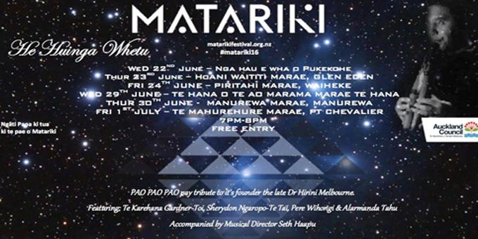 Matariki music a marae celebration