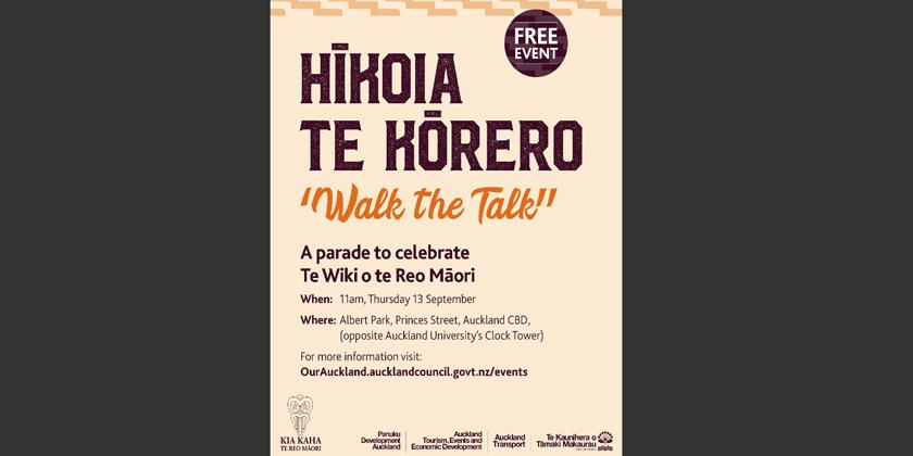 Tāmaki Mākaurau get your hikoi on for te wiki o reo Māori