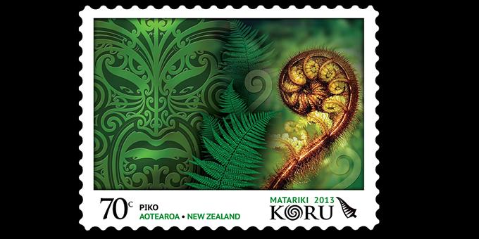 Koru theme for Matariki stamps
