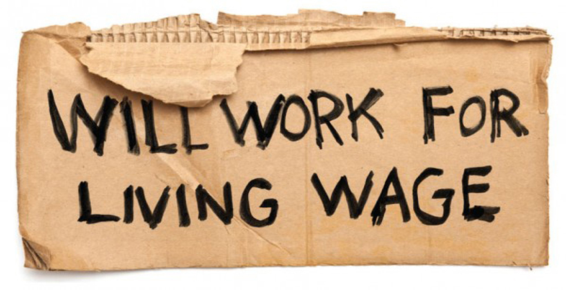 Living wage pressure goes on