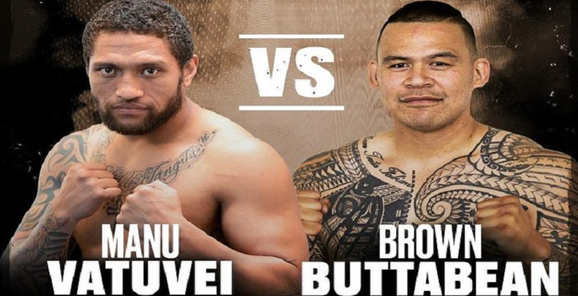 Buttabean vs the Beast in boxing ring