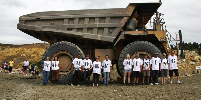 Anti-gold mine protest evolves