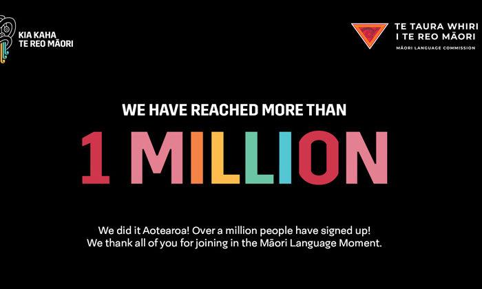 Momentous million for Maori language