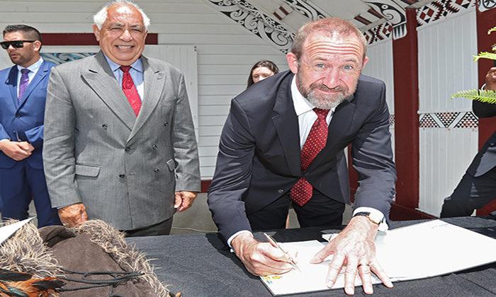 Ngāti Rangitihi signs agreement in principle with Crown.