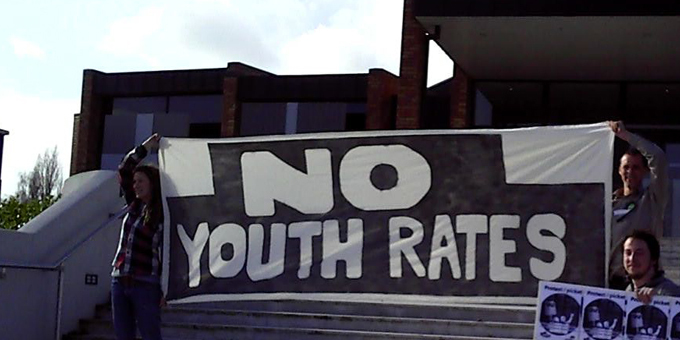 Pak N Slave pickets on youth rates