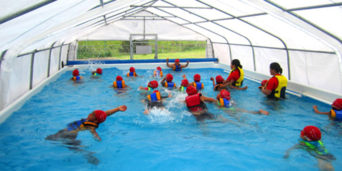 Portable pool could save lives