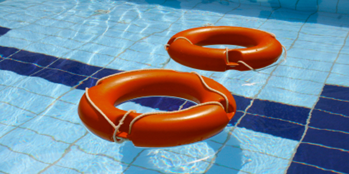 Pool used to teach water safety to kura kids