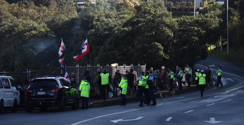 """Waiheke protest clear-out """"overreaction"""""""