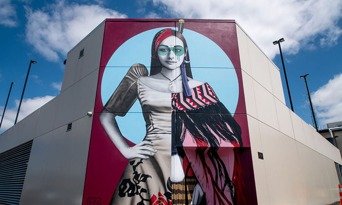 Cloak of peace for Palmerson North street art