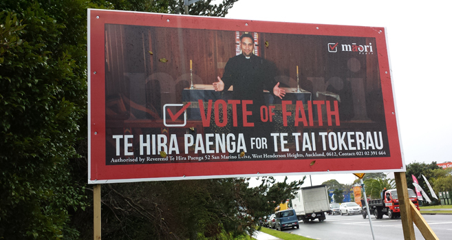 Candidate prays for hoardings peace