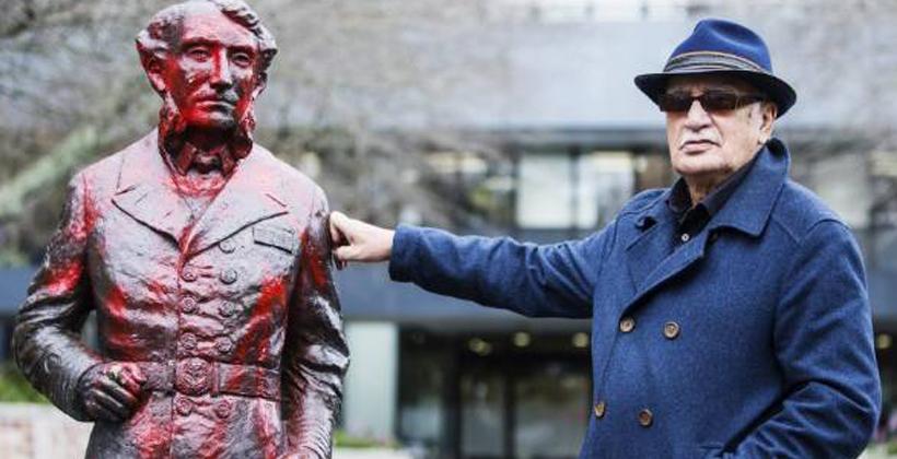 History lesson in statue attack