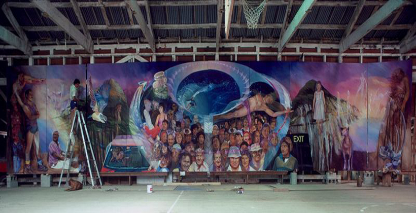 Uawa mural to see daylight far from home