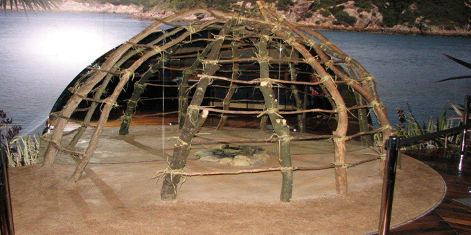 Traditional hut built at museum