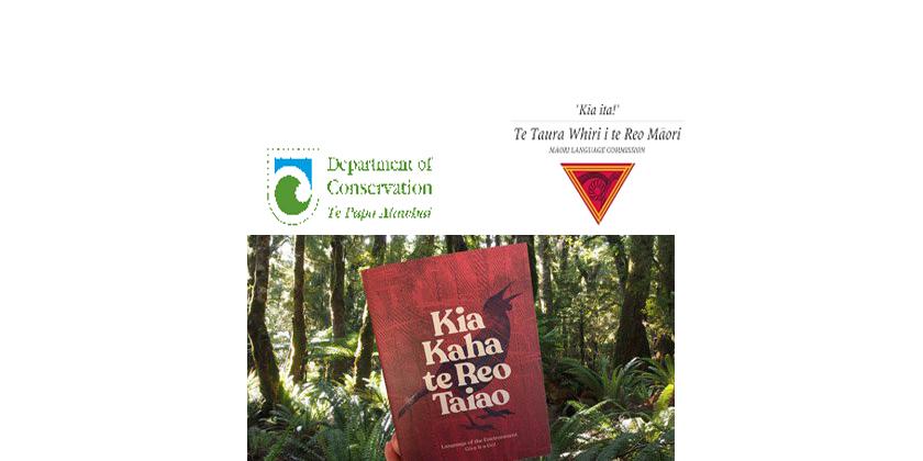 DOC book koha for Te Wiki o Te Reo Māori