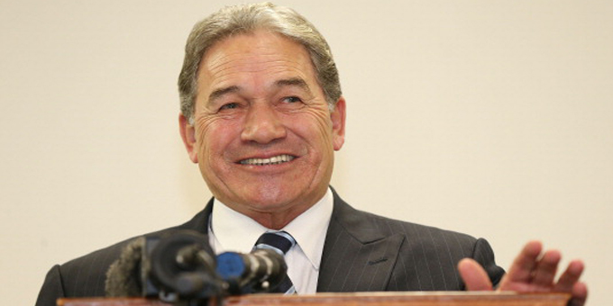 New Zealand First leader Winston Peters on Paakiwaha